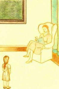Mi padre, o por qué soy escritora, o Don Mariano y la tribu de los Freixolinis: Madre leyendo